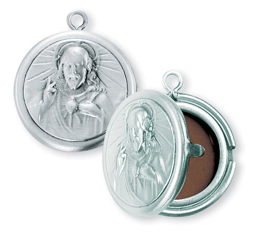 Sterling Silver Sacred Heart of Jesus Locket