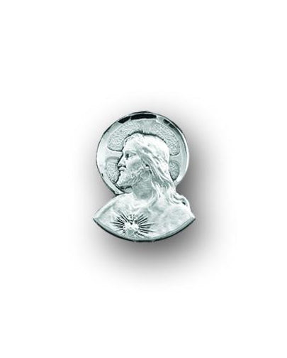 Sterling Sacred Heart of Jesus Lapel Pin