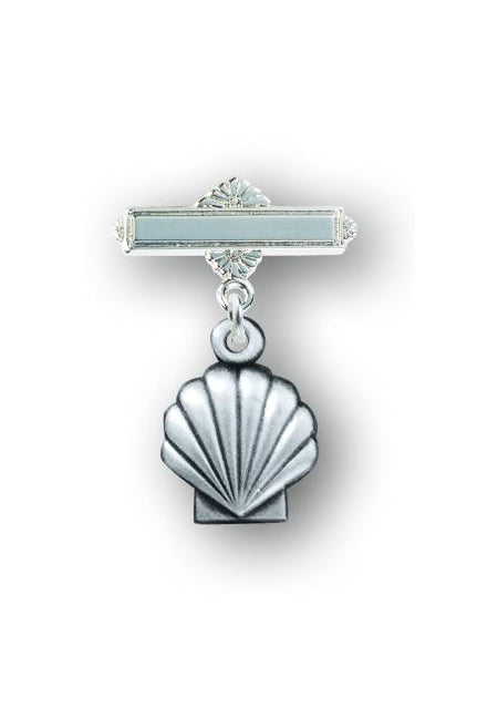 Sterling Silver Baby Holy Baptism Shell Pin