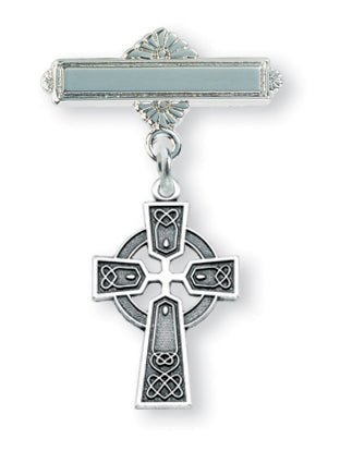 Sterling Silver Baby Celtic Cross Pin
