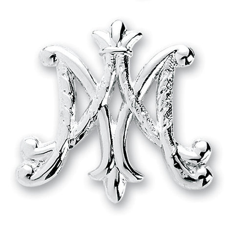 Sterling Silver Ave Maria Broach Pin