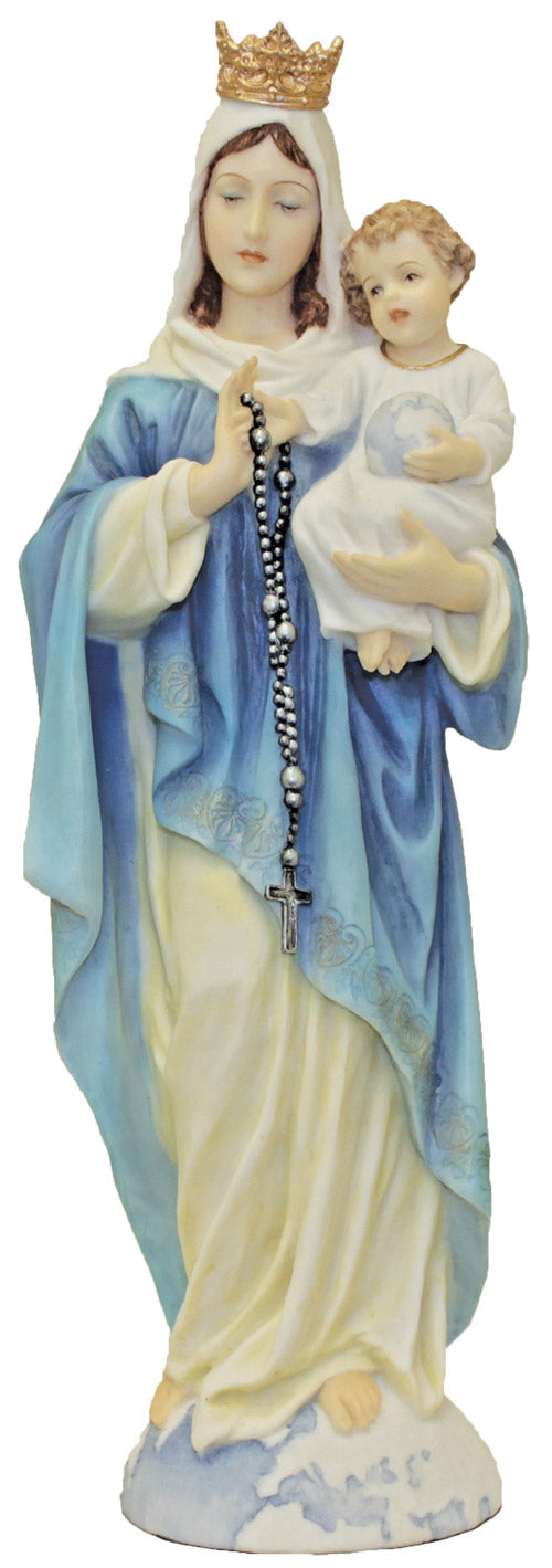 Our Lady of the Rosary Hand-Painted - 10 inch