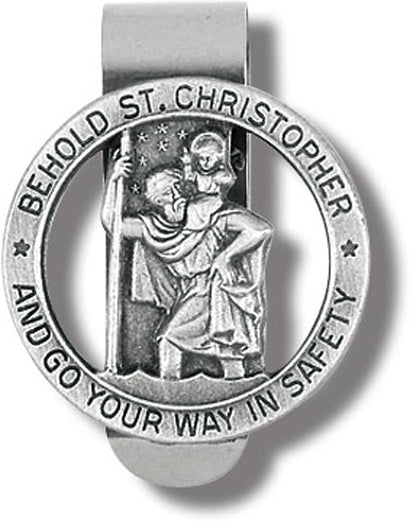 St Christopher Visor Clip Go Your Way Safely 3-Pack