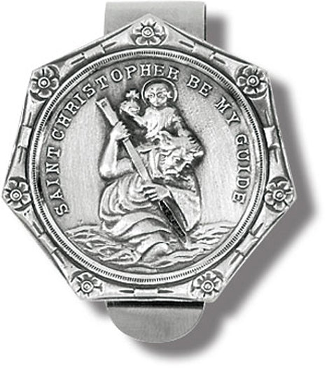 St Christopher Auto Visor Clip 3-Pack