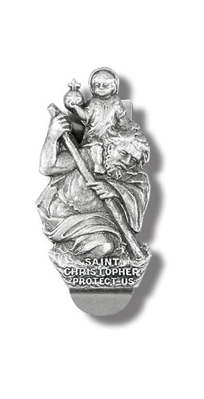 St Christopher Visor Clip 3-Pack