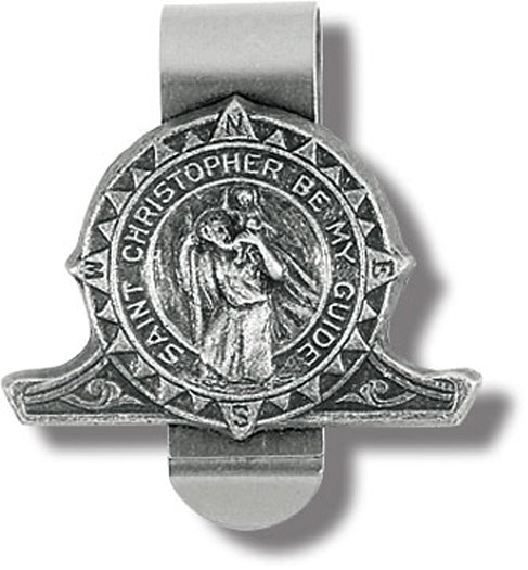 St Christopher Compass Visor Clip 3-Pack