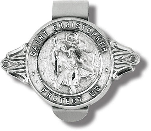 St Christopher Protect Us Visor Clip 3-Pack