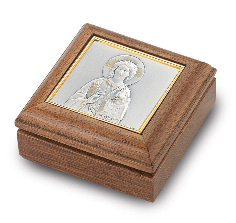 Genuine Walnut Christ the Teacher Keepsake Box