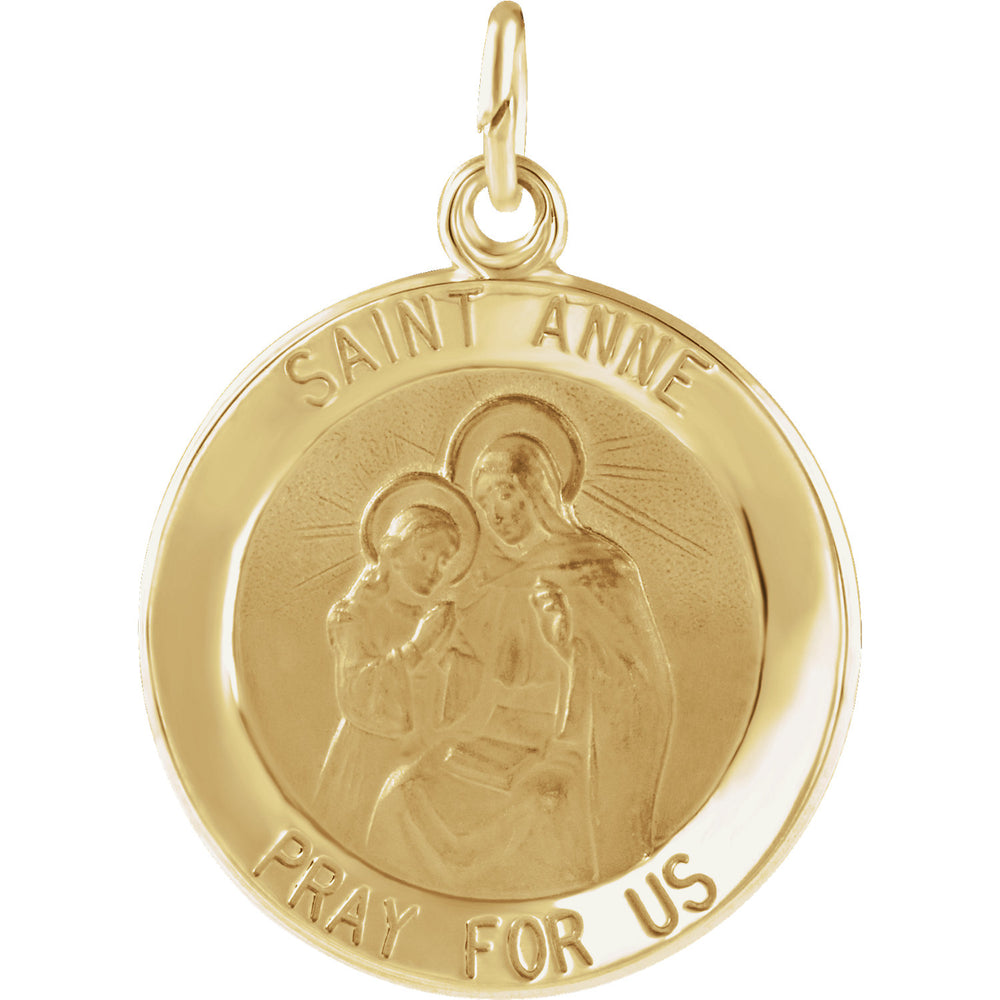 14K Yellow Gold Saint Anne Pendant
