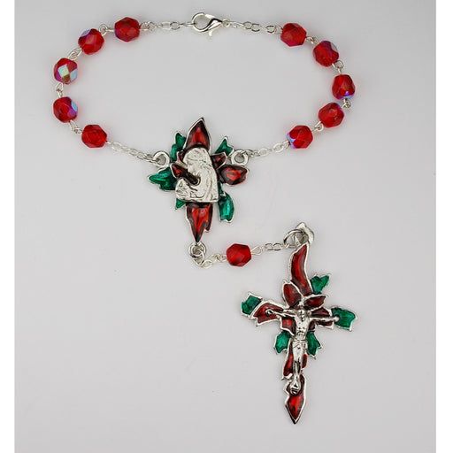 Red Poinsettia Auto Rosary