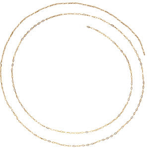 16-inch Solid Cable Chain - 14K Yellow Gold
