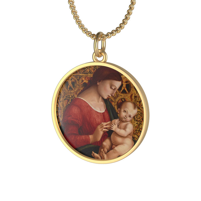 Mary and Baby Jesus Necklace