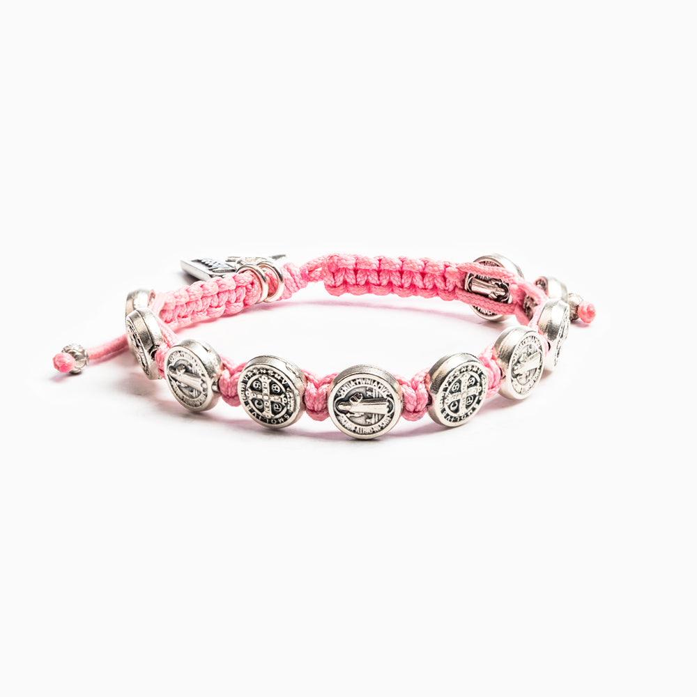 Pink Blessing For a Cure Bracelet - Silver