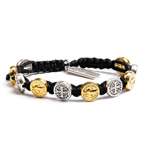 Benedictine Blessing Bracelets Black - Mixed Metals