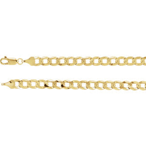 7-inch 5.8 MM Curb Bracelet - 14K Yellow Gold