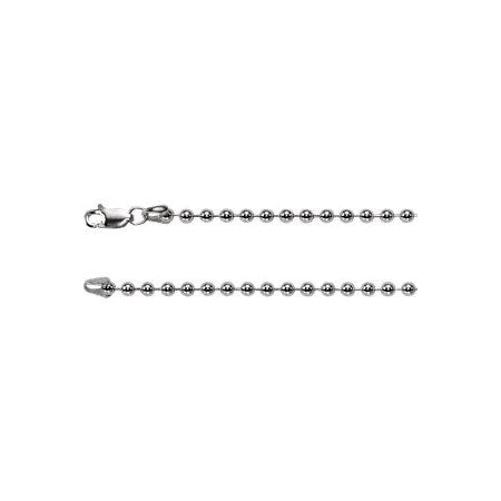 20-inch Bead Chain with Lobster Clasp - Sterling Silver