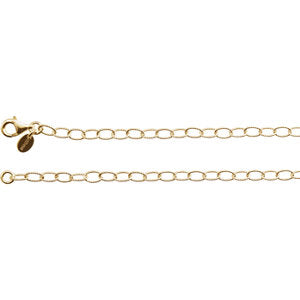 24-inch Knurled Cable Necklace - 24K Vermeil