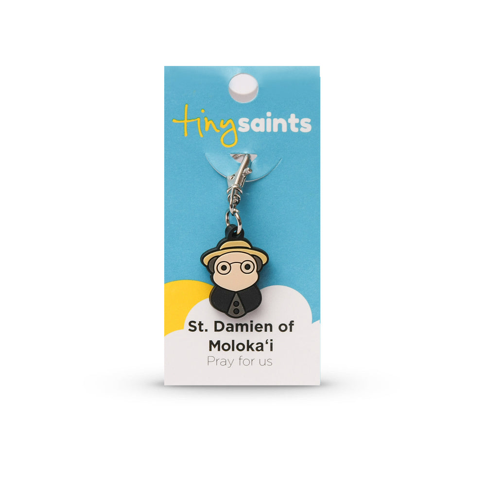 Saint Damien of Moloka Tiny Saint Charm