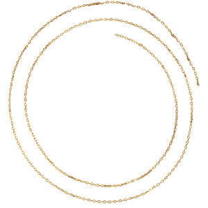 16-inch Diamond Cut Cable Chain with Spring Ring - 14K Yellow Gold