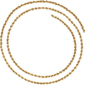 7-inch Rope Bracelet with Lobster Clasp - 14K Yellow Gold