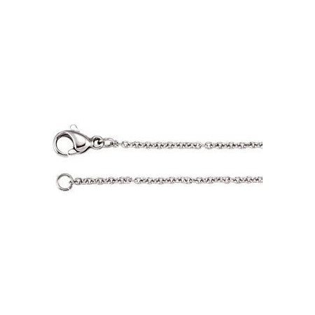 20-inch 1.5 MM Anchor Link Chain with Lobster Clasp - Stainless Steel