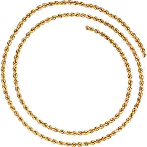 24-inch Rope Chain with Lobster Clasp - 14K Yellow Gold