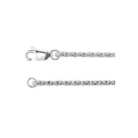 20-inch Reverse Rope Chain with Lobster Clasp - Sterling Silver