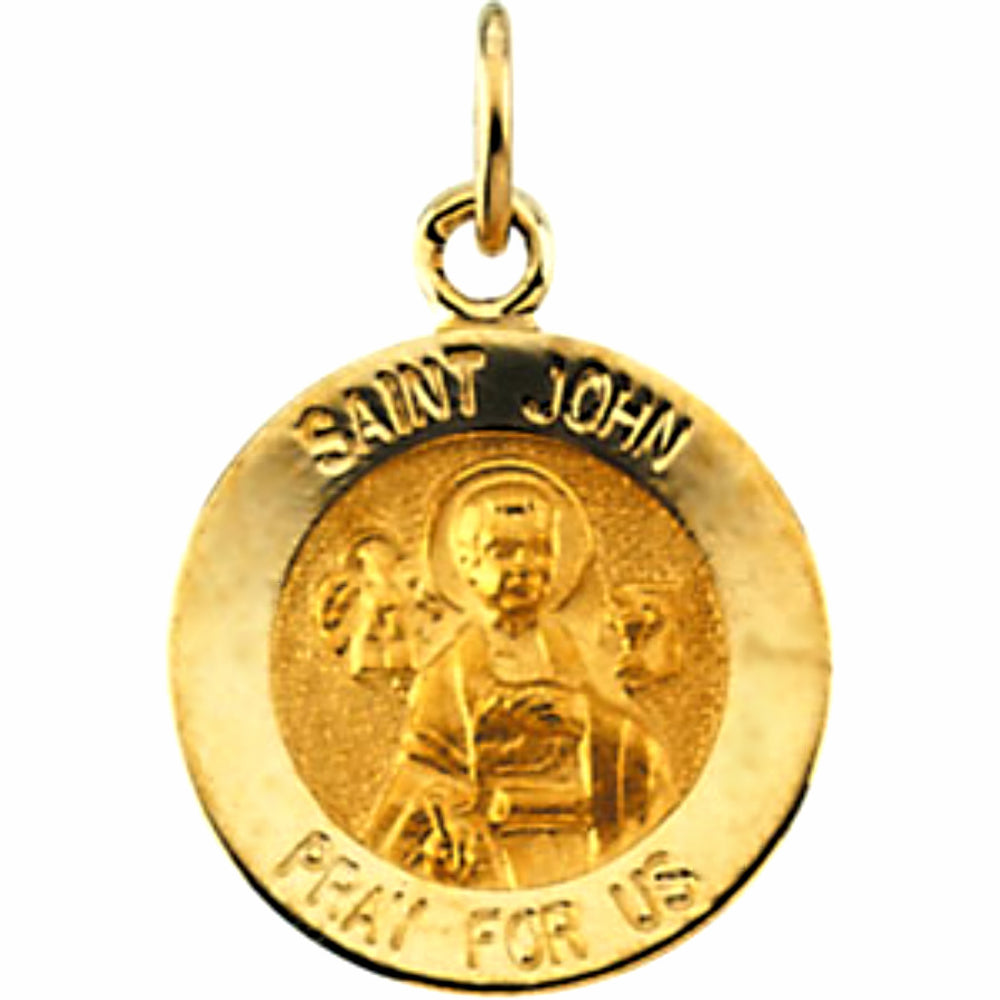 14K Yellow Gold Saint John The Evangelist Pendant