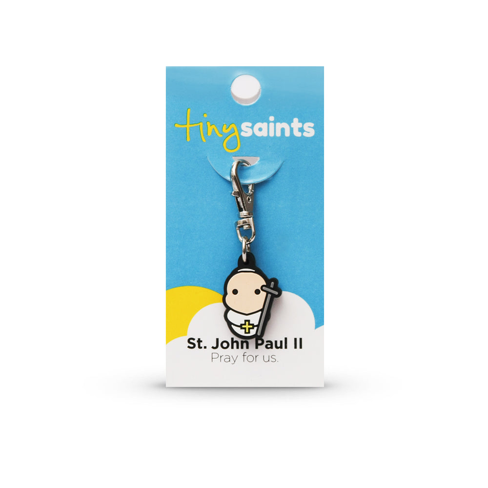 Saint John Paul II Tiny Saint Charm