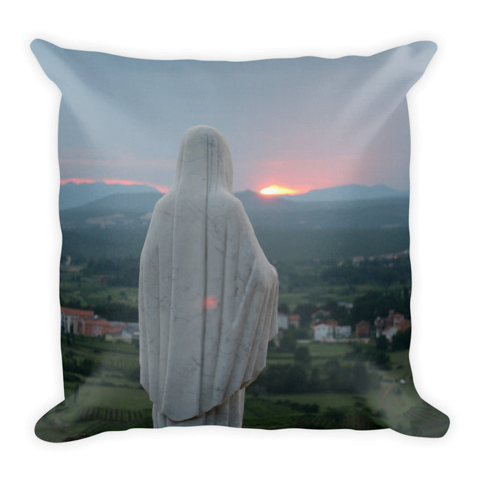 Our Mother at Sunset Pillow