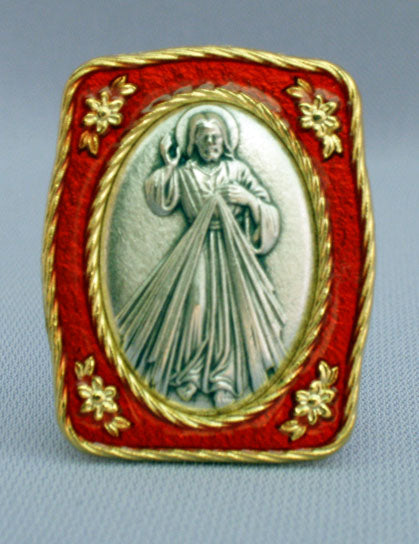 Divine Mercy Medal Plaque 1.5X1.75-inch