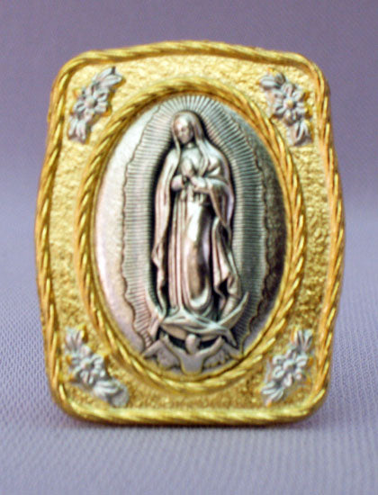 Our Lady Of Guadalupe Medal Plaque 1.5X1.75-inch