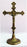 Standing Crucifix Antiqued Brass 11.5-inch