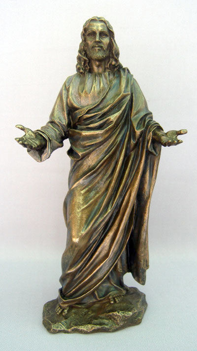 Welcoming Christ Cold-Cast Bronze 12-inch