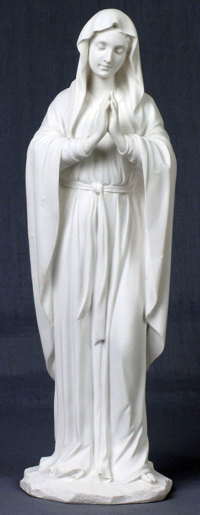 Praying Virgin White 11.75-inch