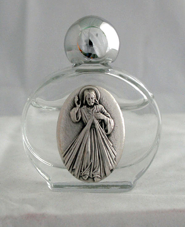 Divine Mercy Holy Water Bottle 1.75X 2.25-inch