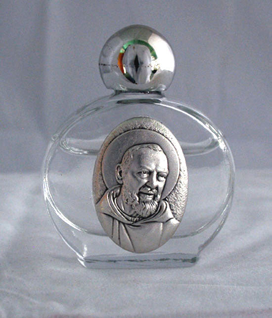 Padre Pio Holy Water Bottle 1.75X 2.25-inch