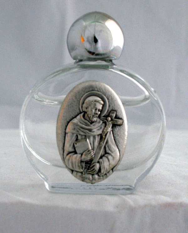 Saint Francis Holy Water Bottle 1.75X 2.25-inch