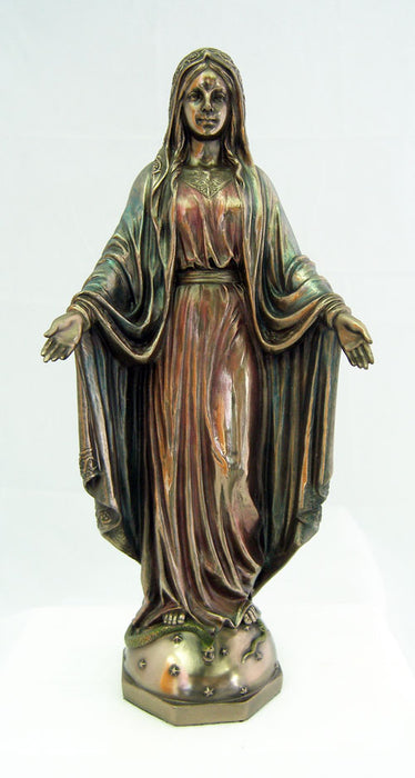 Lady Of Grace Cold-Cast Bronze Lightly Hand-Painted 10-inch