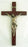 Crucifix Bronze Corpus Wood Cross 14-inch