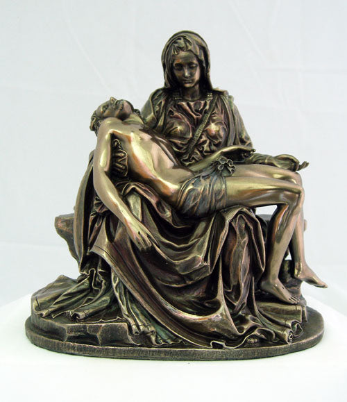 Pieta Cold-Cast Bronze Lightly Hand-Painted 6.25-inch