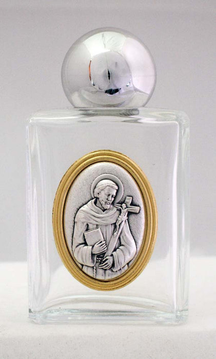 Saint Francis Holy Water Bottle Square
