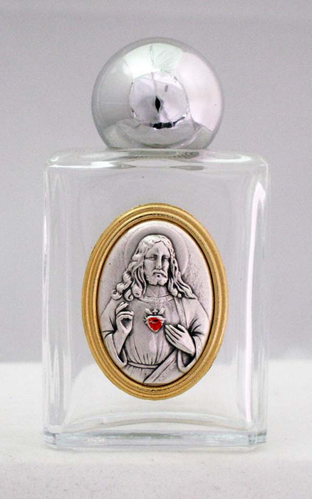 Sacred Heart Of Jesus Holy Water Bottle Square