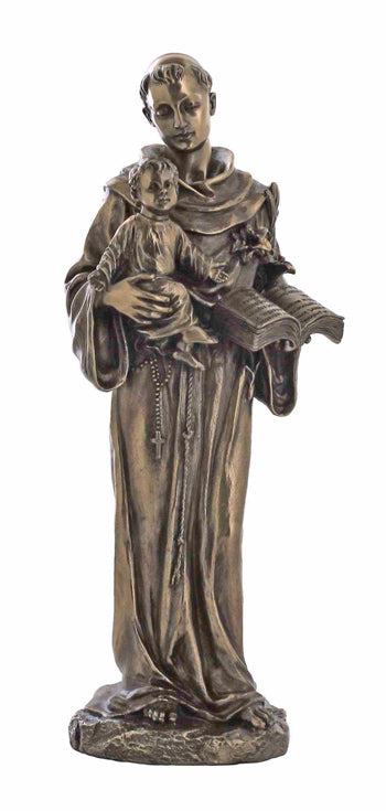 Saint Anthony And Child Cold-Cast Bronze 10.5-inch