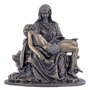 Pieta Lightly Hand-Painted Cold-Cast Bronze 5-inch