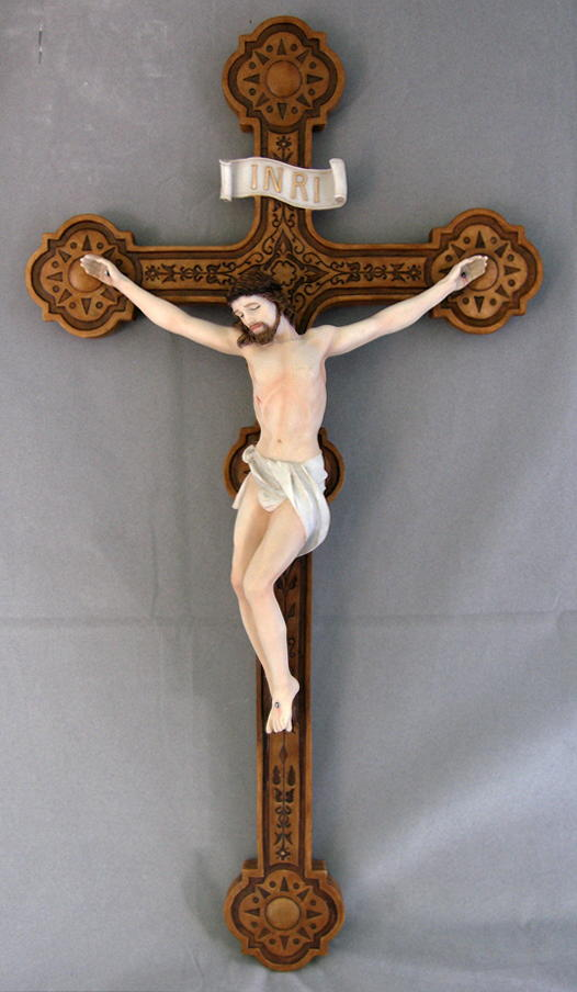 Crucifix Hand-Painted 20-inch