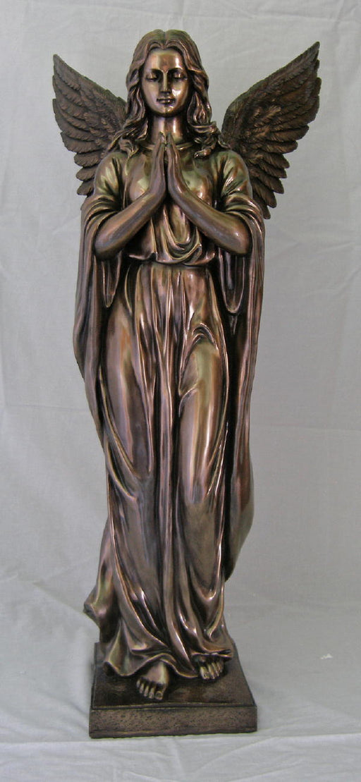 Praying Angel Cold-Cast Bronze 38-inch