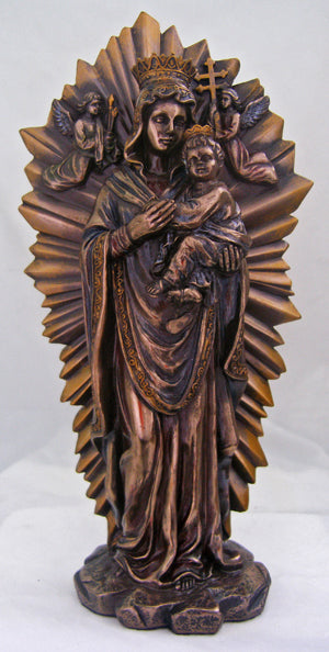 Ol Perpetual Help Lightly Hand-Painted Cold Cast Bronze 10-inch