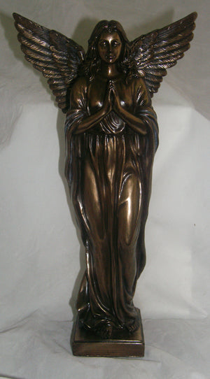 Praying Angel In Cold Cast Bronze 12.5-inch
