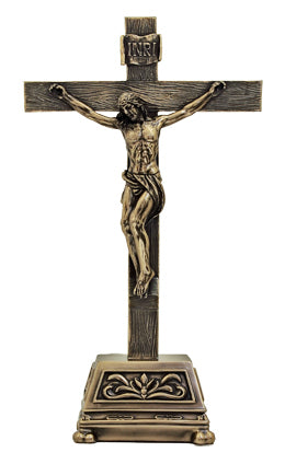 Genesis Standing Crucifixcold Cast Bronze 10-inch